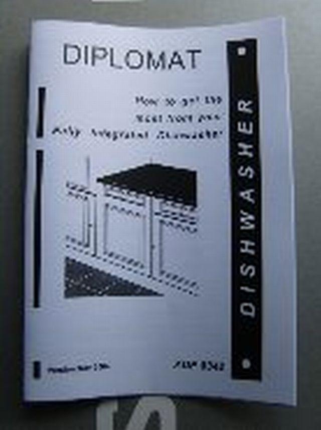 Diplomat Dishwasher INSTRUCTION MANUAL INSMANADP8342