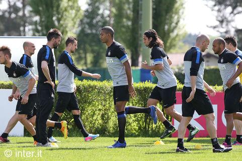 Secondo allenamento verso Inter-Lazio