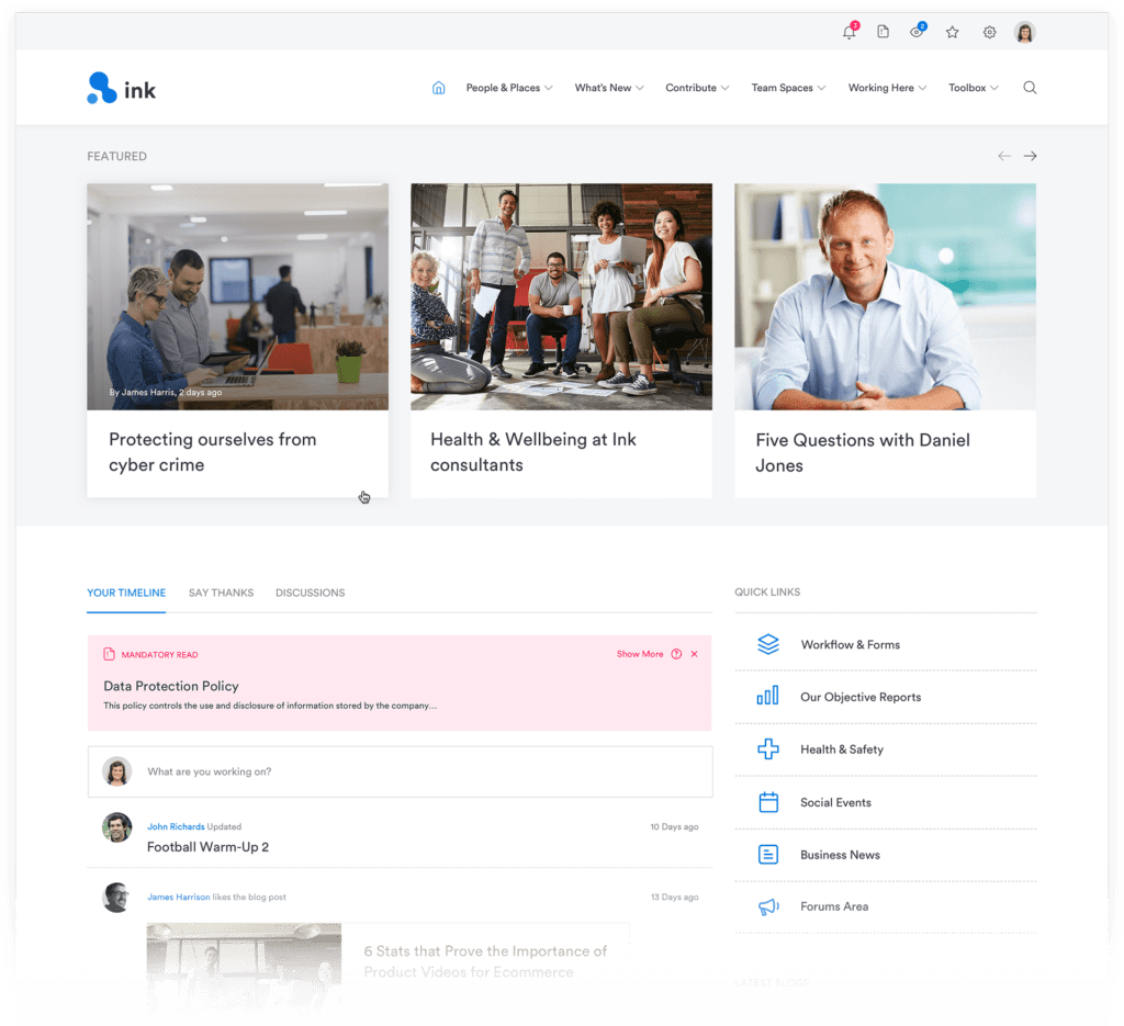 The Homepage Of Your Intranet Not Only Provides A Better User  Experience, It Establishes Your Intranet As The 'go To' Place For Employees  To Connect To