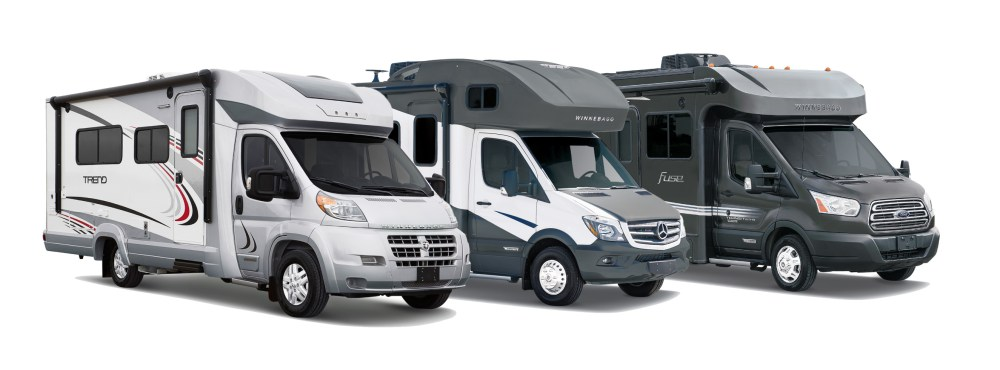 medium resolution of winnebago has several very popular compact class c rvs the trend fuse view and navion they come in at various price points lengths and chassis types