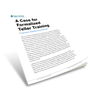 Training Tellers: A Case For Formalized Teller Training
