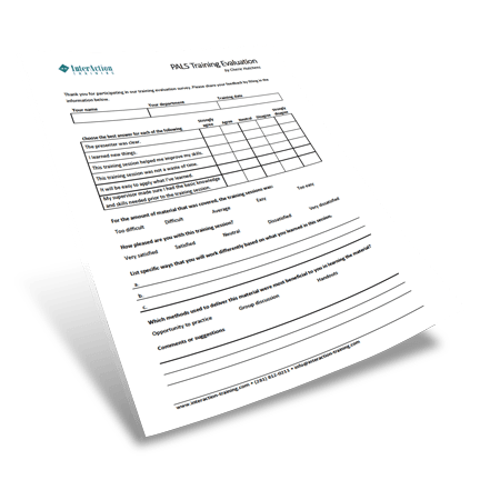 PALS Training Evaluation Feedback Form