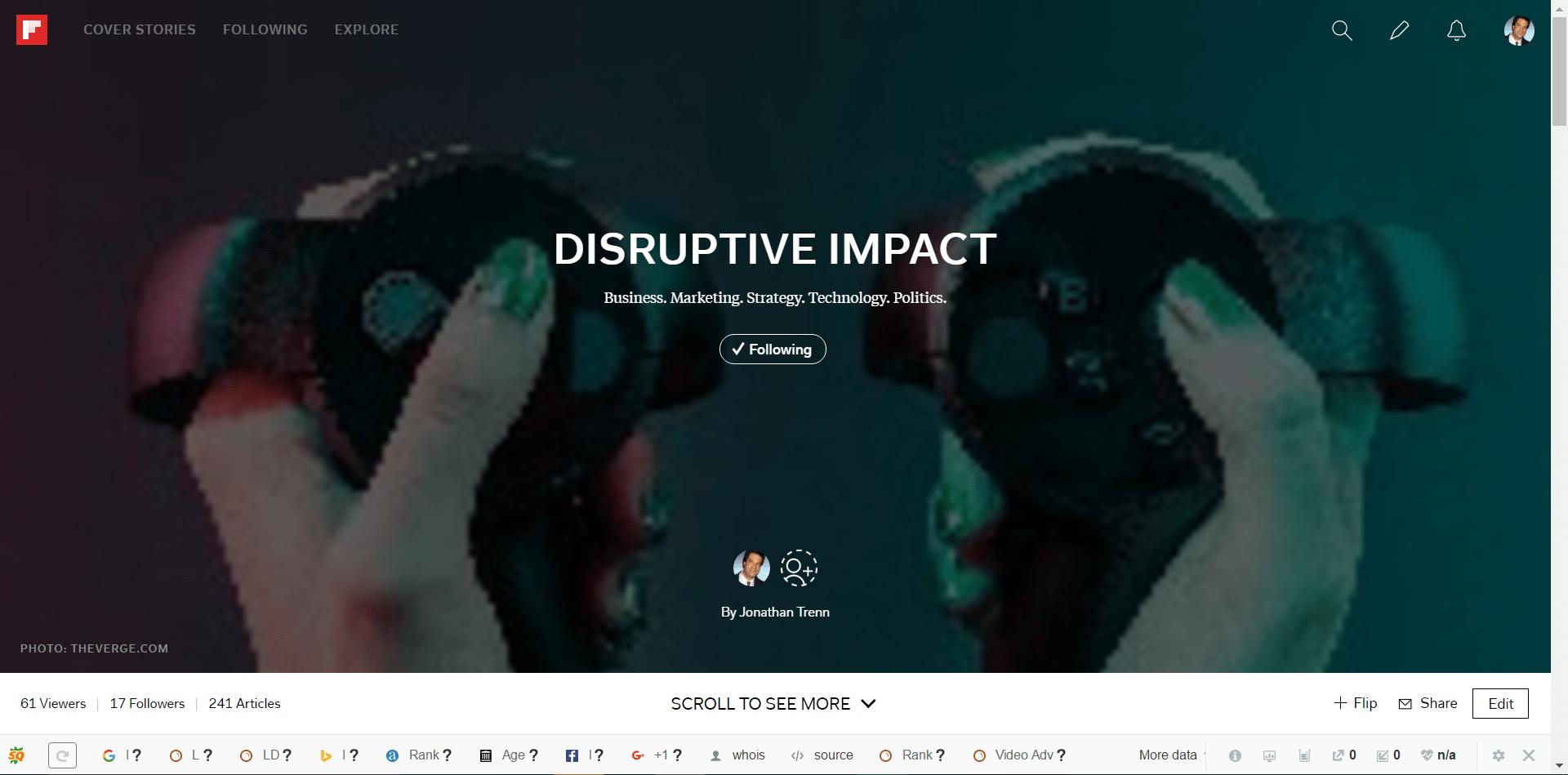 Disruptive Impact screen grab