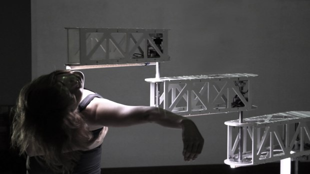 Figure 2: Prototype SCARA robot is able to adaptive to external forces passively when it has physical contact with a dancer.