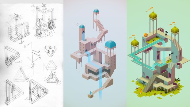 Sketches To Concept - Monument Valley