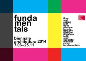 Figure 11 Poster for the 14th International Architecture Exhibition, entitled Fundamentals, directed by Rem Koolhaas and organized by la Biennale di Venezia