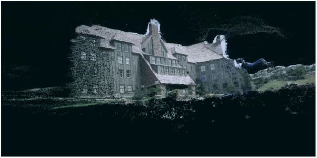 """Fig .16 Photogrammetry of the scene from """"The Shining"""" Screenshots from the Final Term Movie"""