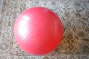 Yoga ball is also good for bodywork