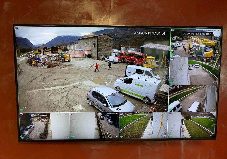 Installation vidéosurveillance dans un bâtiment commercial à La Bathie en Savoie