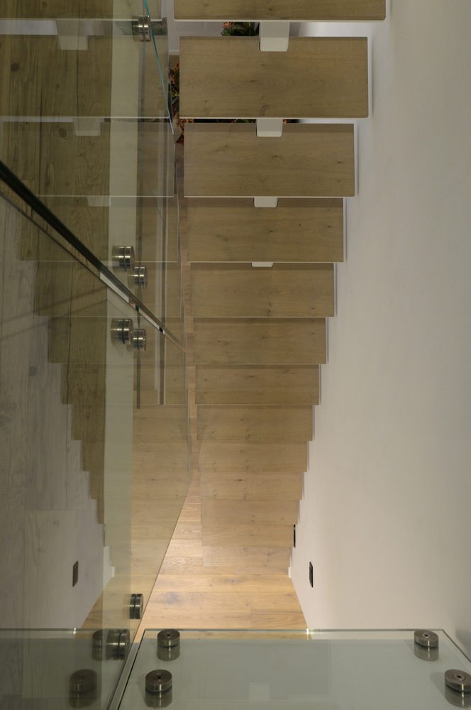 scala monotrave per uno spazio ridotto