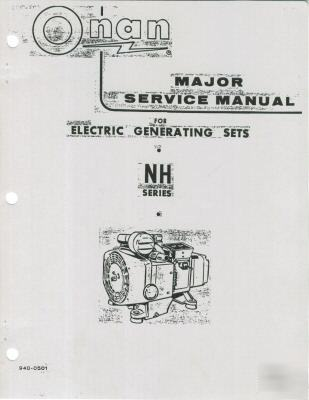 Onan nh rv genset major service manual 940-0501 1973