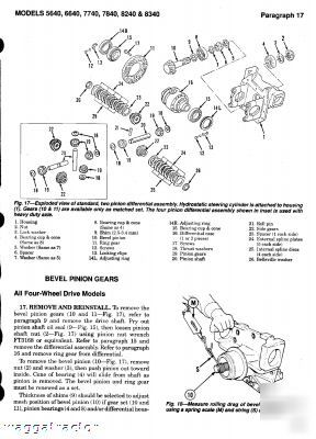 New ford holland 5640 thru 8340 tractor workshop manual