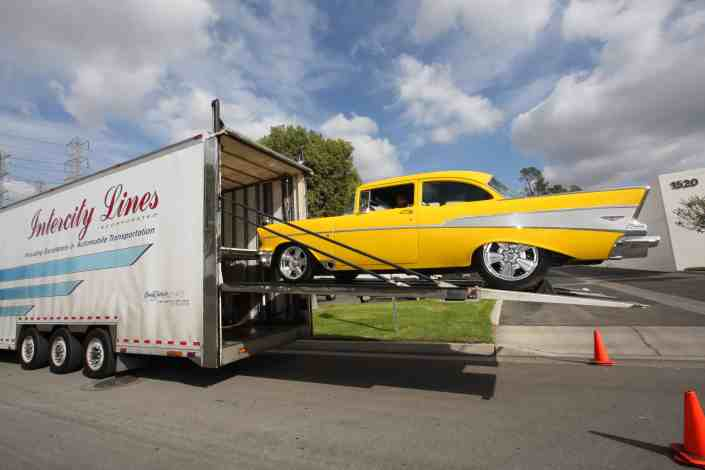 57 Chevy Belair transported