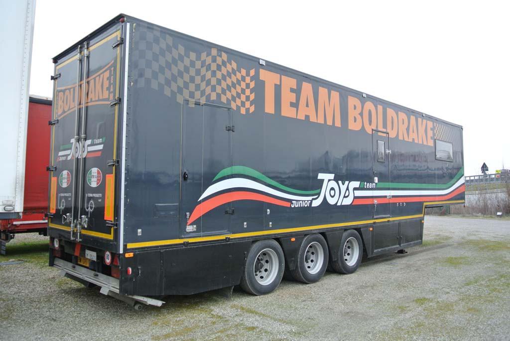 semirimorchio team racing motorhome hospitality usato