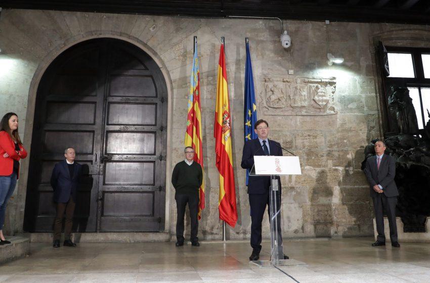 Ximo Puig firma un Acuerdo con los agentes sociales que incluye una ayuda directa de 150 euros para 200.000 trabajadores y trabajadoras afectados por ERTE