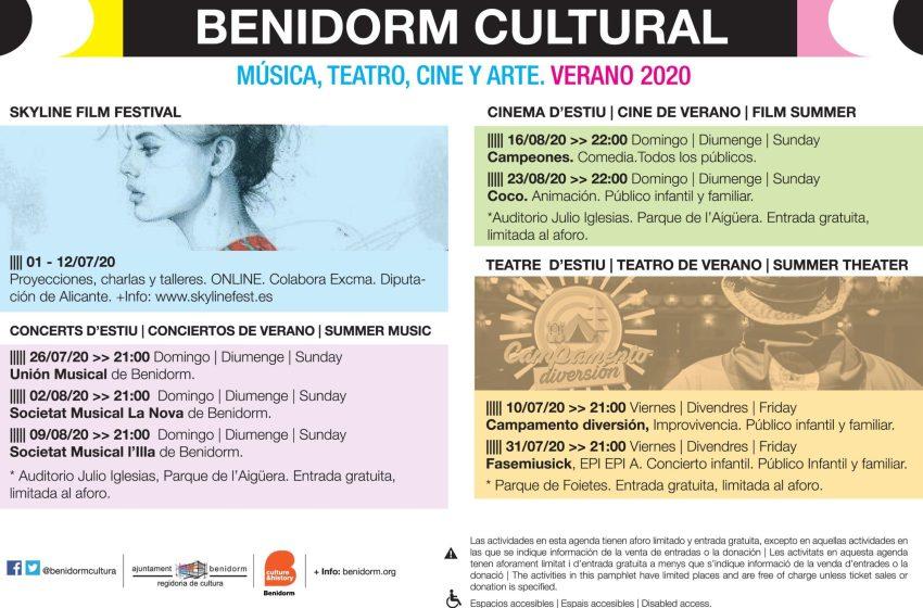 Música, teatro, cine y arte en la programación cultural de verano de Benidorm