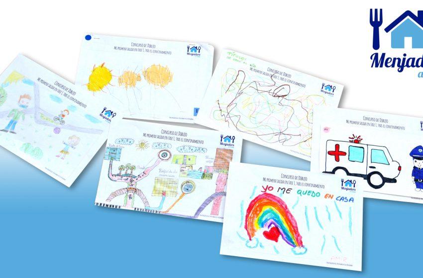 El Ayuntamiento de Benidorm expone una selección de dibujos de los escolares del programa municipal 'Menjadors a casa'