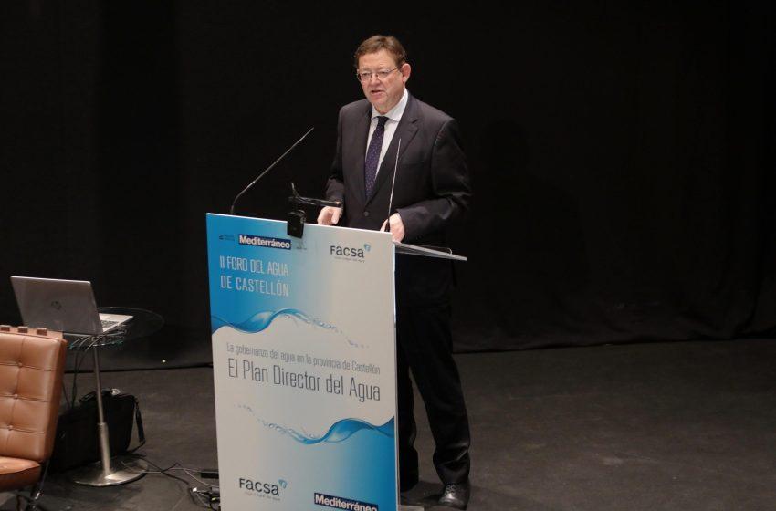 Ximo Puig ha anunciado el objetivo del Consell de reciclar el 100% de las aguas residuales de la Comunitat Valenciana