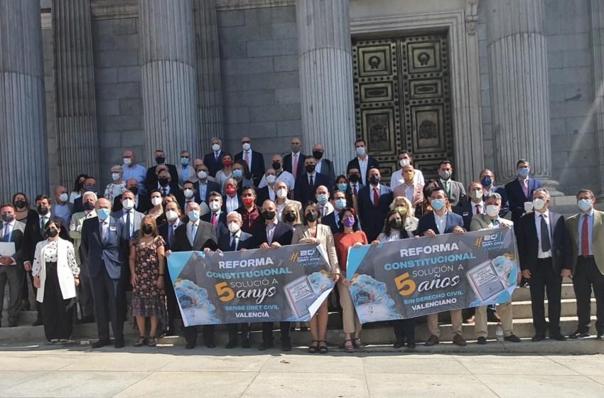 Pérez Garijo insta al Congreso a iniciar la reforma urgente de la Constitución que permita la recuperación efectiva del Derecho Civil valenciano