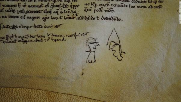 funny conversation medieval doodle