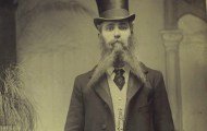Man with a Victorian beard in Brighton (1895)