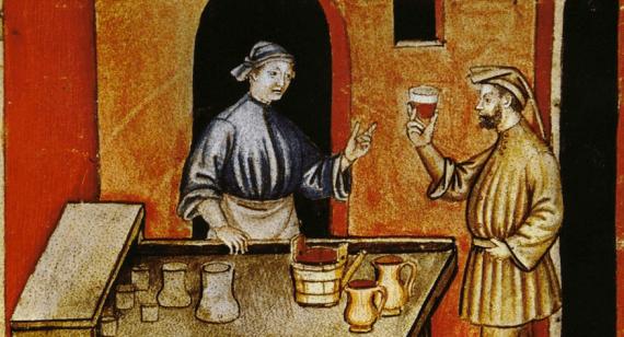 Medieval Advertising wine