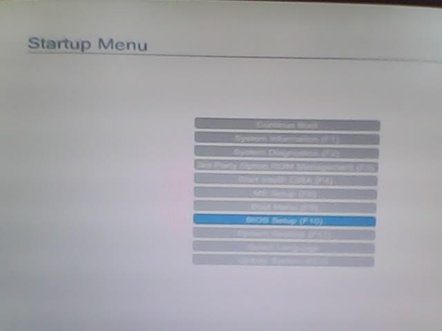 startup menu