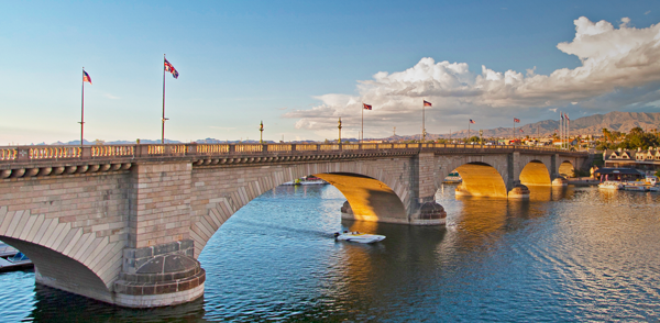 photograph of London Bridge in Arizona.