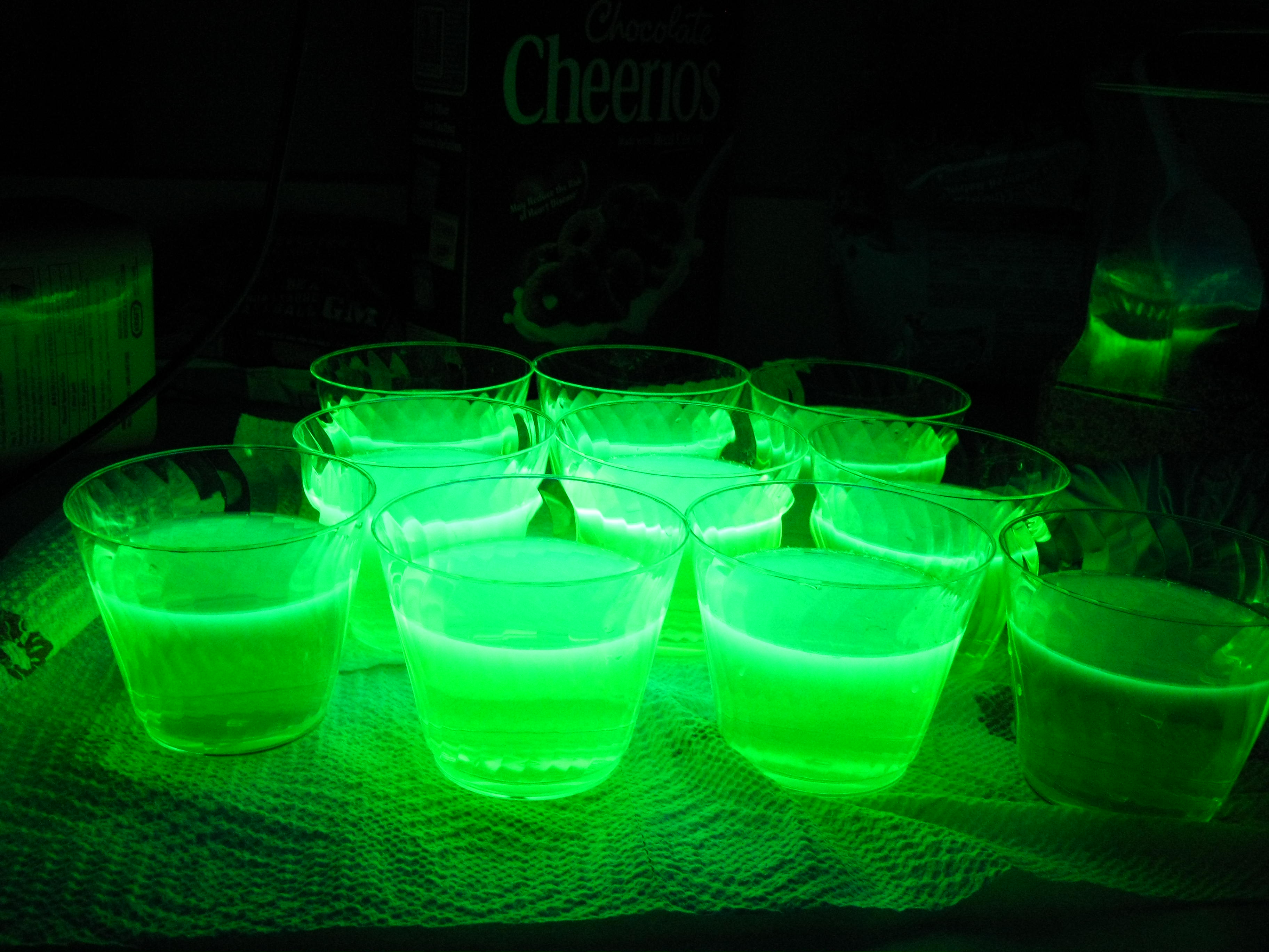 Image result for glowing green water