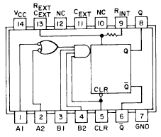74121 IC Description, Dictionary of Electronic and