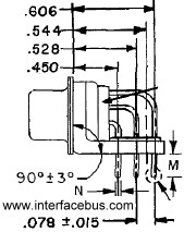 Mechanical Dimensions D-Sub Connector, High density 15-Pin
