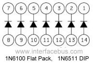 Dictionary of Electronic Diode Array Types, DIP Pack