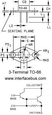 Transistor Case Packages, 3-Terminal TO-66 Style