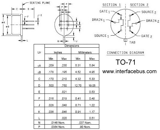 FET Case Packages, TO-71 Multi-Pin Metal Can