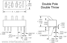DIP Switch Diagrams and DIP Switch styles