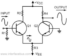 Transistor Differential Amplifier Circuit Description