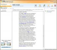 Arquivo de texto importado para o Live Workspace: só para leitura