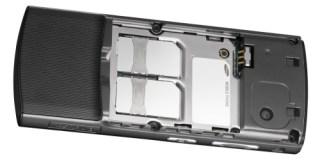 Samsung SGH-D870: os dois slots para o SIM card