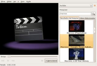Plugin (que não funciona) do YouTube para o Totem
