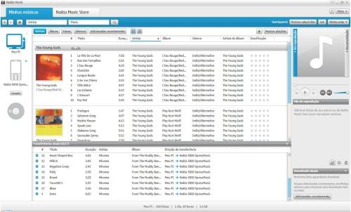 Transferência de arquivos do PC para o 5800