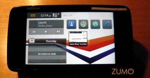 Tela inicial com widgets customizáveis