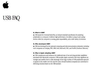 Trecho do USB FAQ