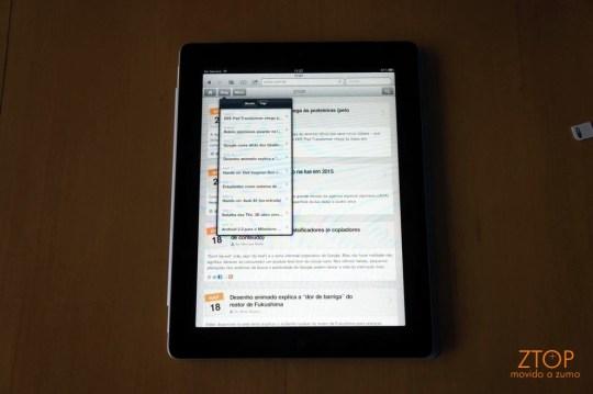 Já visitou o ZTOP em um iPad?