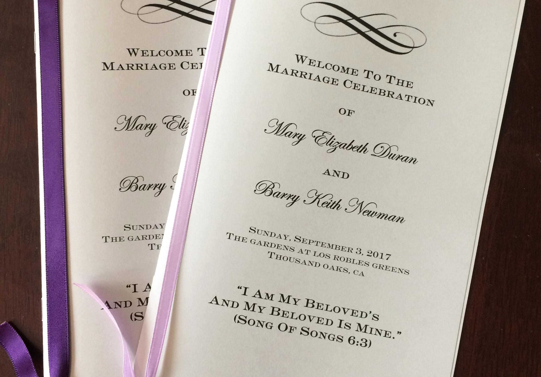 A Brides DIY Interfaith Wedding Program  InterfaithFamily