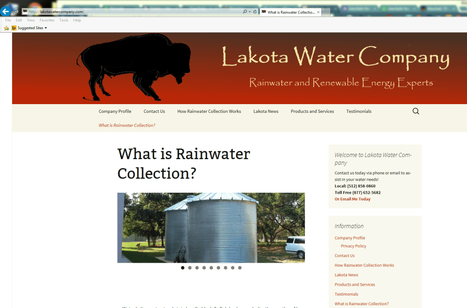 Lakota Water Company - Interfaith Networking