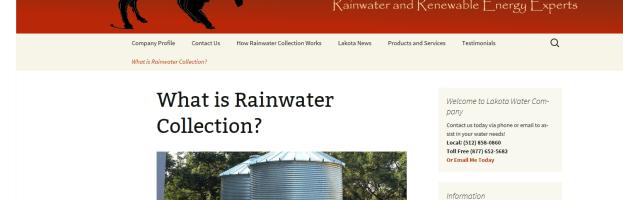 Client Profile – Lakota Water Company