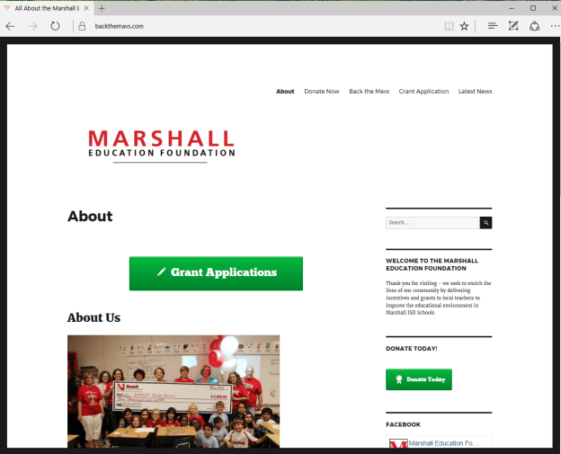 Marshall Education Foundation client of Interfaith Networking