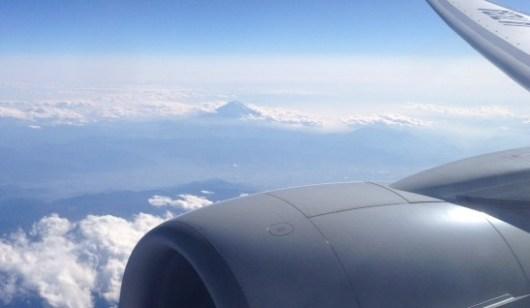 機上からの富士山