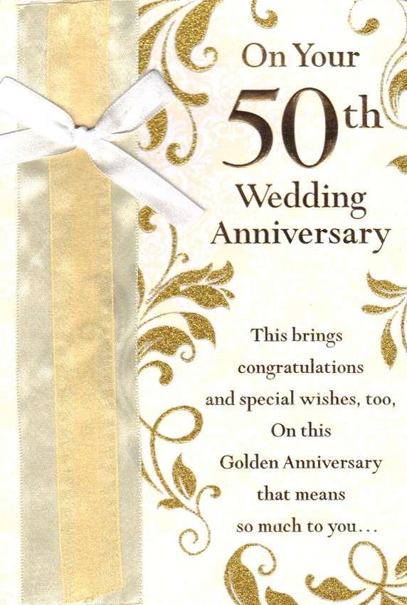 Wholesale Anniversary 50 Years Greeting Card 19606