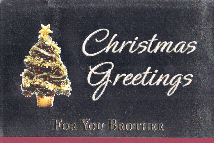Wholesale Christmas Brother Greeting Cards